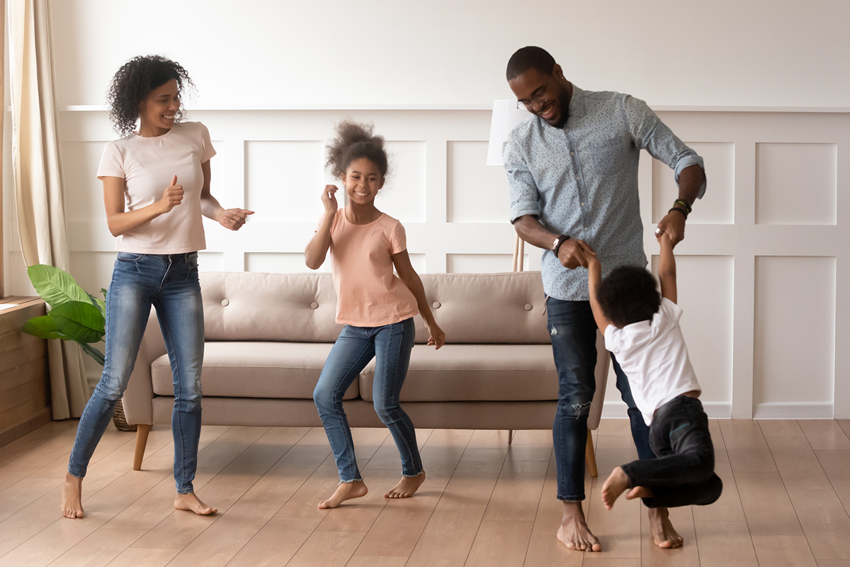 family dancing Get Serious About Fun